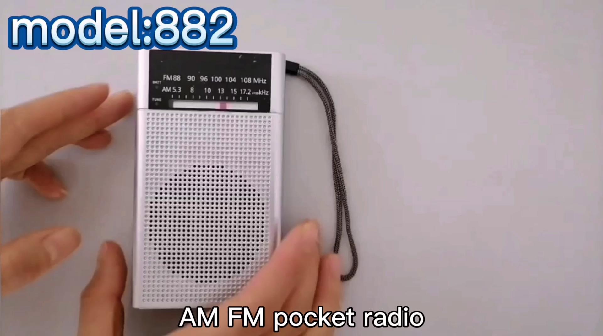 2020 클래식 미니 포켓 라디오 월마트 AM FM 라디오 블랙