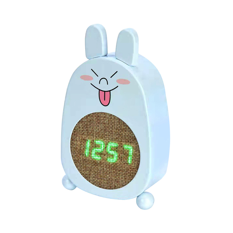 Desk and Table Digital Alarm Clock with charger LED Digital & Analog Clock with Metal Case Animal Clock Rechargeable