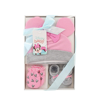 Wholesale Luxury Gift Clothing Packaging Paper Boxes With Window For Newborn Baby Kids Boy Clothes Shirt Socks Blanket Bibs Set