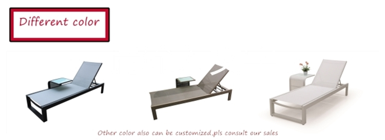 Hot sales large aluminum tube pool sun loungers sunbed chaise lounge