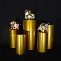 wedding events gold pillar decorative phinth party decoration pedestal