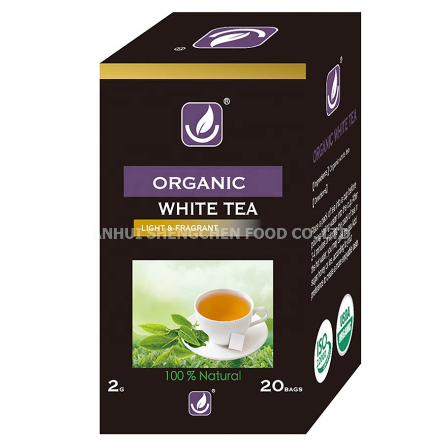 OEM Customized free sample cheap price factory produce HIGHER LIVING WHITE TEA 20 TEA BAGS
