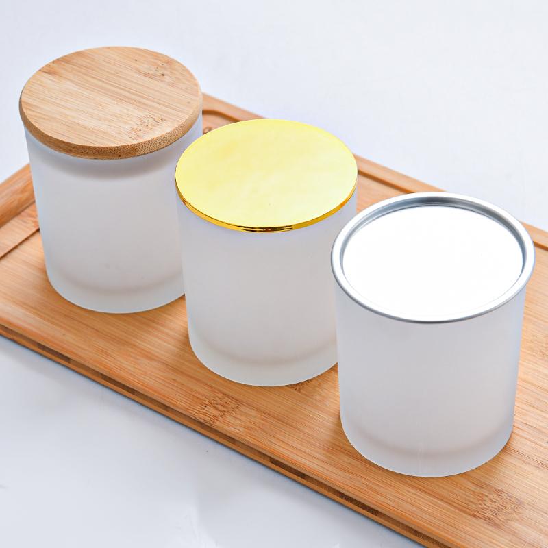 Novo Preto frasco de vidro da vela vela de vidro copo vazio frascos da vela