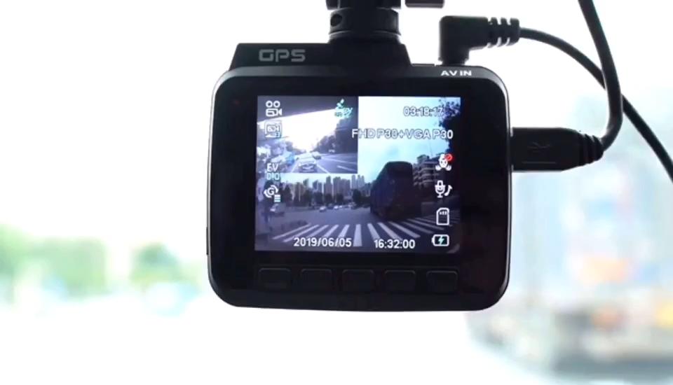 4 K Ultra HD WiFi Araba Dash kamera 2160 P 60fps ADAS Dvr ile 1080 P sony sensörü Arka Kamera Gece görüş GPS Çift Objektif Dashcam