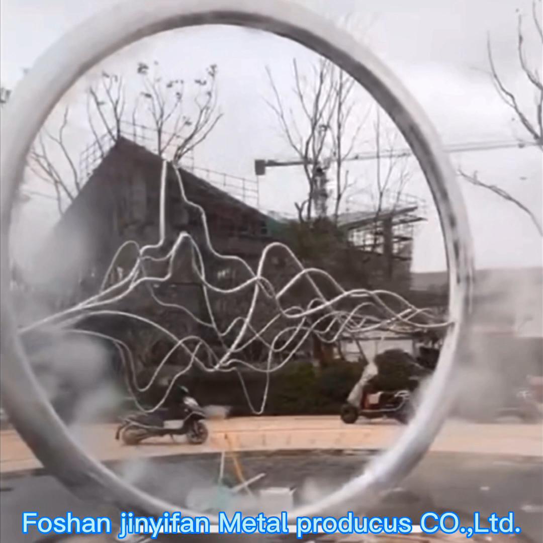 ZB3  Women Head Artwork Metal Mesh Sculpture Stainless Steel Garden Decoration
