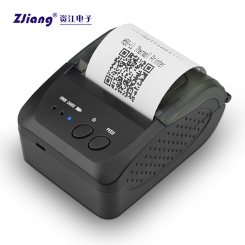 power bank mini hand thermal printer receipt 1500MAh support Android IOS