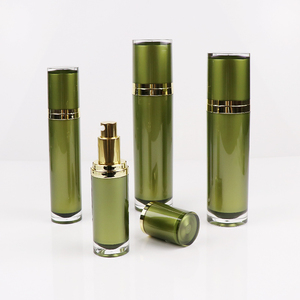 High end empty cosmetic refillable luxury plastic 15ml 30ml 50ml cream lotion airless pump bottle