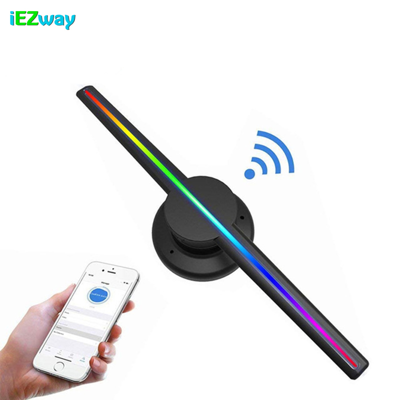 2019 iEZway Hot Alibaba Express High Resolution 640x640 pixel 3D LED displayer Wifi 42cm Hologram Fan