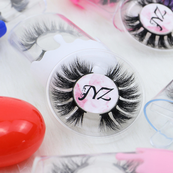 Hot selling reusable 20-30 times natural false eyelashes 3d mink eyelash vendors