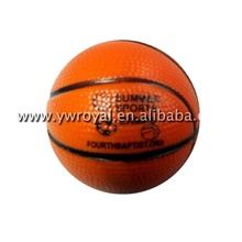 Marron Impression PU <span class=keywords><strong>Basket</strong></span>-Ball Promotionnel Balle Anti-Stress