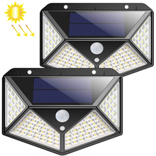 100 Led <span class=keywords><strong>Outdoor</strong></span> Draadloze Waterdichte Motion Sensor Solar Licht Voor Tuin