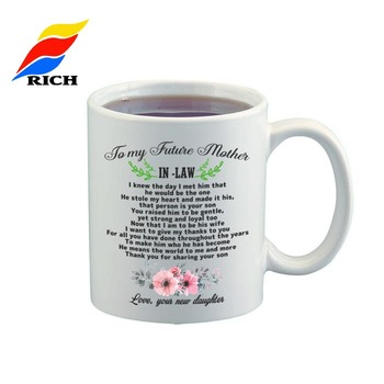 2019 new design Promotional mother's day gift mug, thankful mather coffee mug