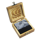 Natural Ice Whiskey Chilling Stones Natural Chilling Ice Cube Granite Whiskey Stones Gift Set For Drinks In Wooden Box