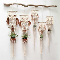 Owl string plant pendant,Children's room decoration ,cheap plant hanger rope
