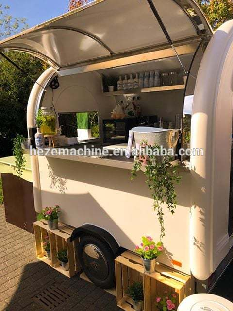 Hot Sale Mobile Food Cart Vending Foodtruck Containers Mobile Fast Food Van Trailer For Europe