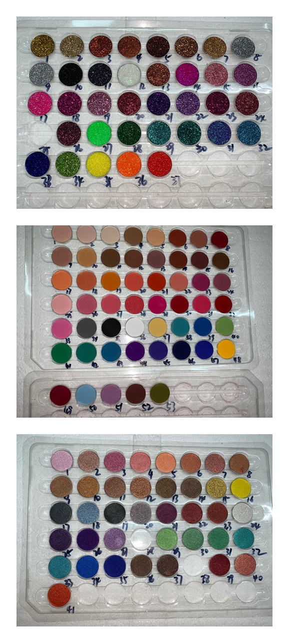 High Pigment free choose custom eyeshadow palette 9 colors palette private label 36mm with mirror