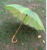 23inch*8k tropical custom wave shaped banana leaf umbrella with bamboo curved handle for promotion
