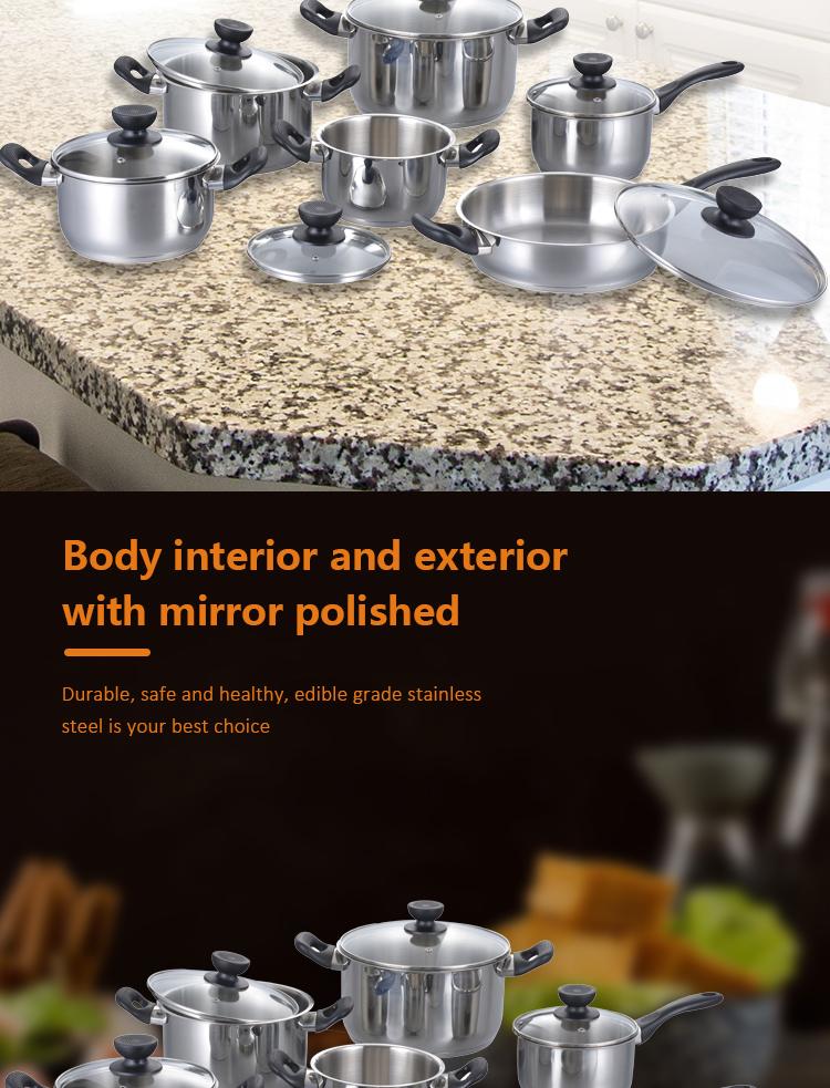 Nouveau Design 12 pièces de Cuisine En Acier Inoxydable Bakélite Poignée