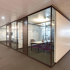 office Room dividers full height aluminium glass walls partition