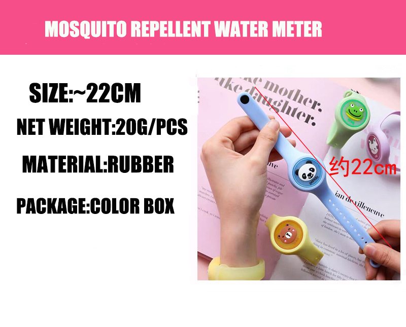 shiny anti mosquito band Reusable Cartoon Baby citronella Silicone Mosquito Repellent Bracelets Watch