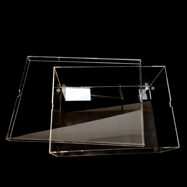 Transparant acryl sneaker box clear acryl schoen display box