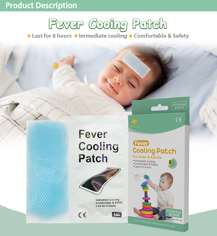 Wholesale Products Medical Child Baby Fever Cooling Gel Patch For Headache