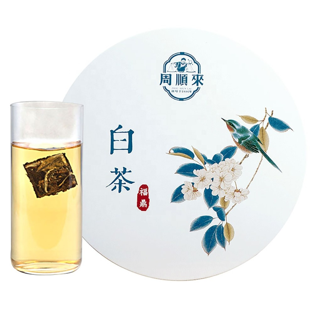 ZSL-WC-001Healthy Chinese Pure Natural Aged Old White Tea Compressed Cake Immunity Boost - 4uTea   4uTea.com