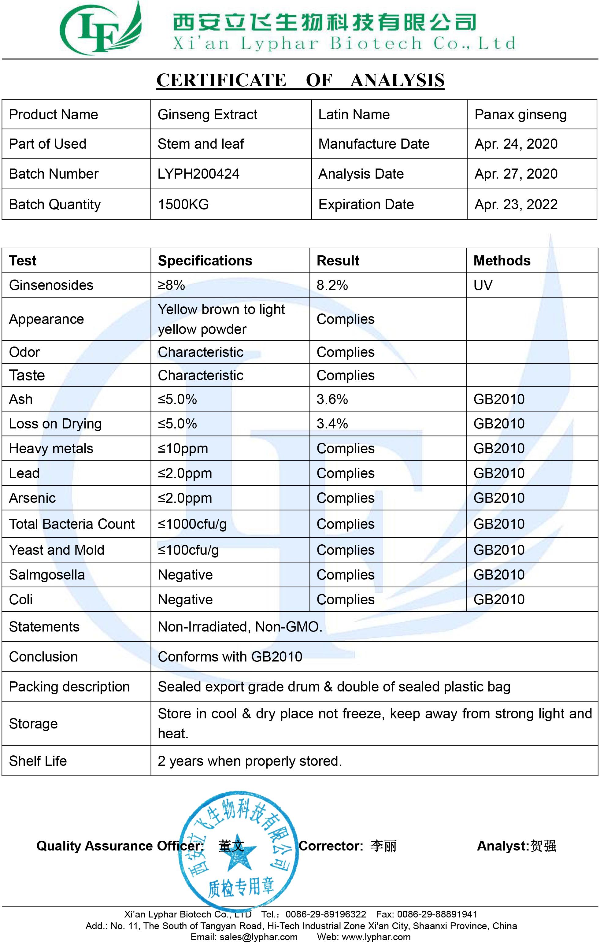 COA of Ginseng Extract 8%.jpg