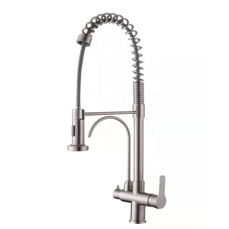 New Design Flexible <strong>Spring</strong> No Leaking <strong>Kitchen</strong> Sink <strong>Faucet</strong> With Pull Down Sprayer