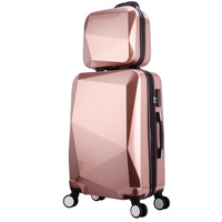 2019 New fashion Cheap ABS Trolley Four Wheels Hard Shell Luggage Travel Suitcase with hand bag