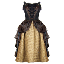 Steampunk Del Victorian Jacquard Dell'annata Mezza Gonna con Coulisse <span class=keywords><strong>Vestito</strong></span>