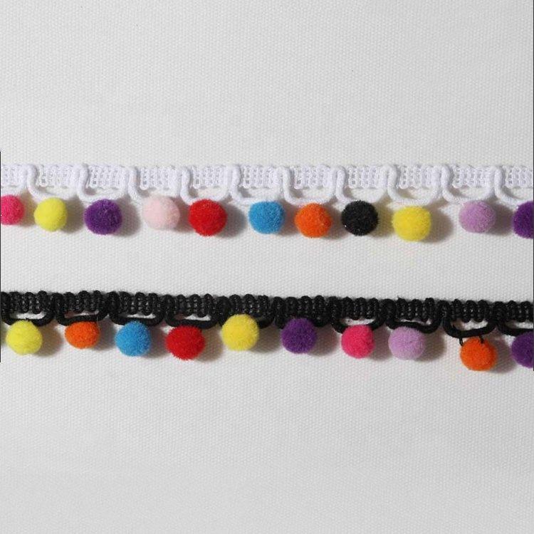 Diseñador Con Cuentas Recorte Pom Pom Todos Los Colores