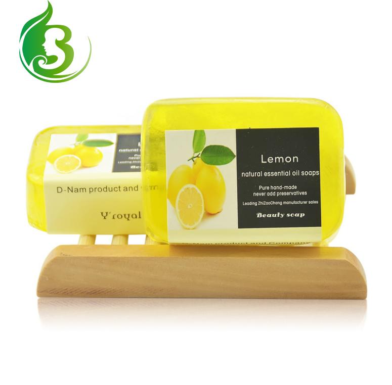 Wholesale best skin whitening remove dark spot handmade lemon fresh soap