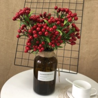 Factory Wholesale Cheap Red Berries For Christmas Decoration