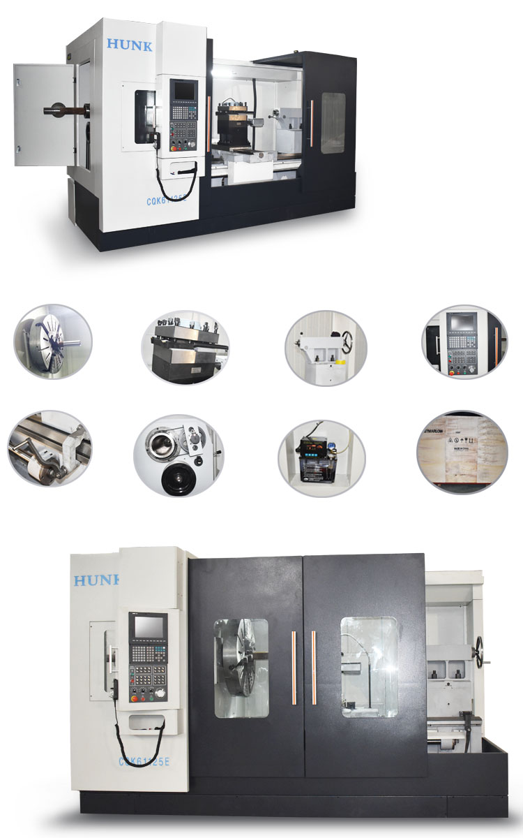 CK61125 CNC milling machine tools metal turning lathe