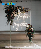 Custom made wedding 3D decorative sign letters led flexible neon light acrylic wedding sign
