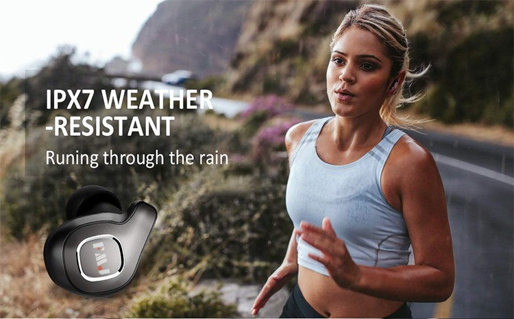 Best Selling Black Wireless Earbuds 2 In 1 Charger New Products Tws Earbud Wireless Waterproof Headphones 2020 Fashion