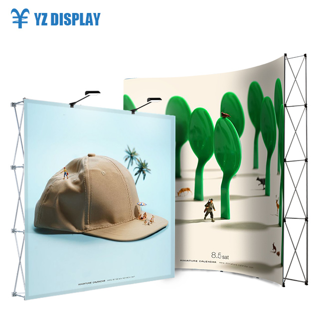 Stage Decoration Backdrop Portable Rack Folding Tradeshow Fabric Popup Stand 10 Pop Up Display