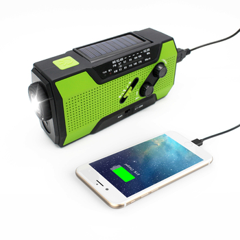 emergency dynamo rechargeable mini portable hand crank am fm sw solar radio with led flashlight and power bank