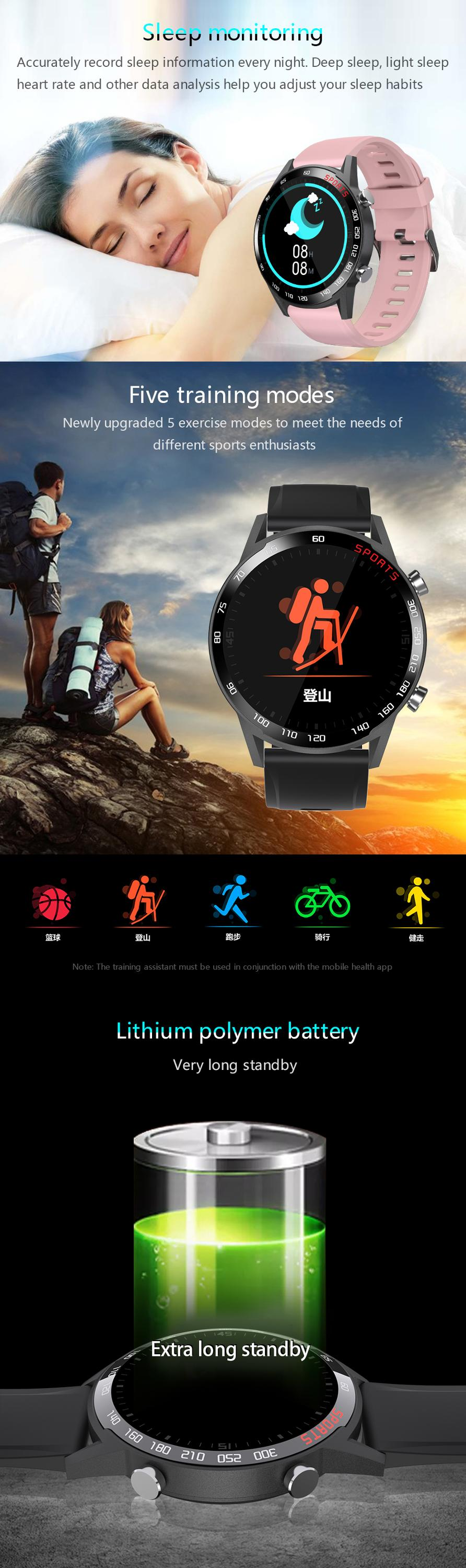 Full touch full round cheap smart bracelet, sport fitness watch reloj intelogente Blood Oxygen Monitor Waterproof  smart Watch