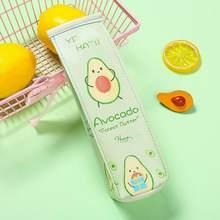 Сумка-карандаш с рисунком авокадо, переносной чехол для канцелярских товаров для школьников(Китай)