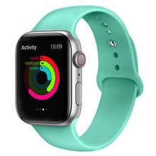 Силиконовый спортивный ремешок для Apple Watch 42 мм 38 мм ремешок резиновый браслет ремешок для Apple Watch ремешок 44 мм 40 мм iwatch Band 5 4 3(Китай)