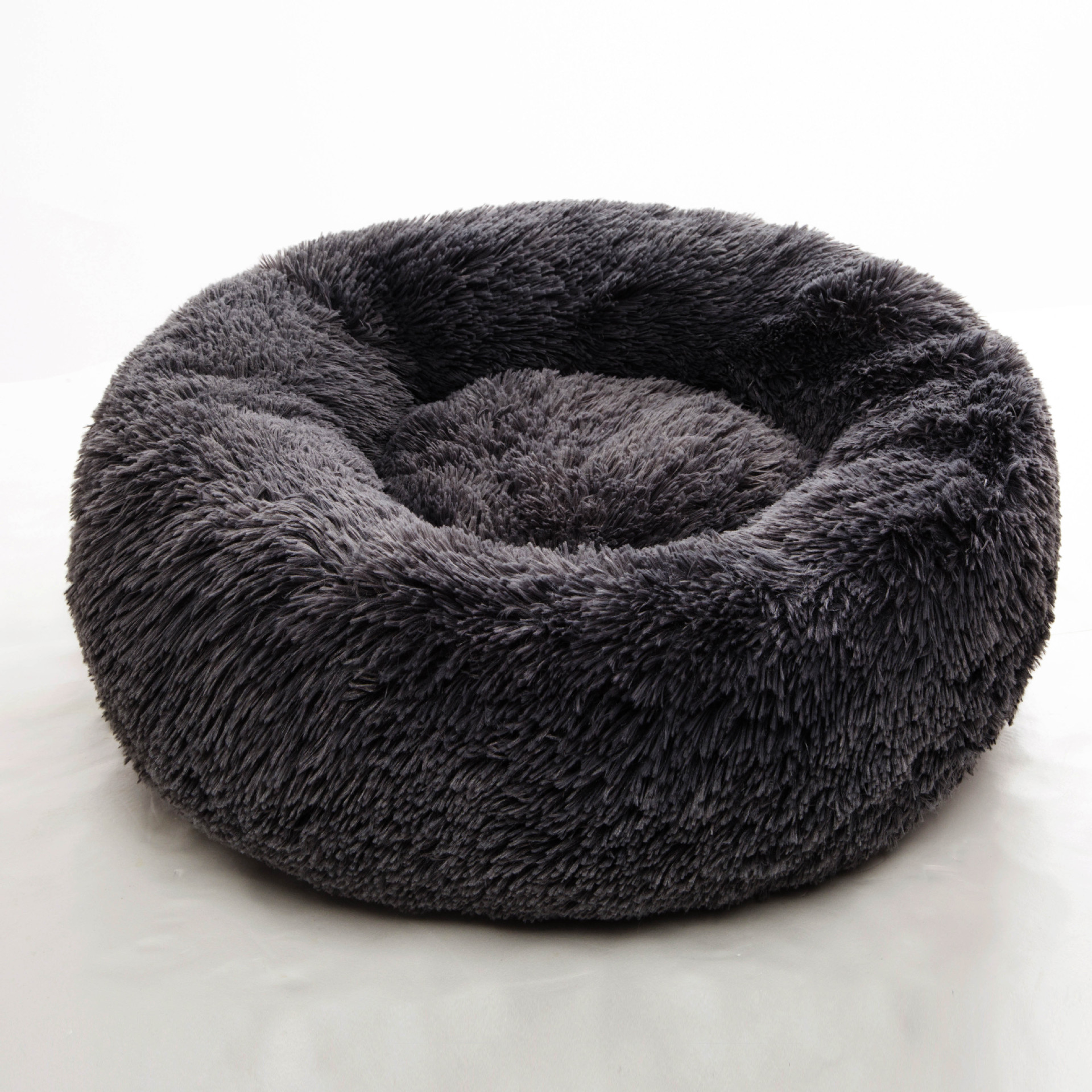Wholesale Custom Luxury Soft Plush Warm Donut Pet Bed Cushion Sofa Cat Dog Bed