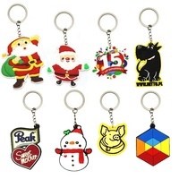 Free sample gift keyring Christmas 3d 2d soft custom pvc keychain With custom shaped Logo