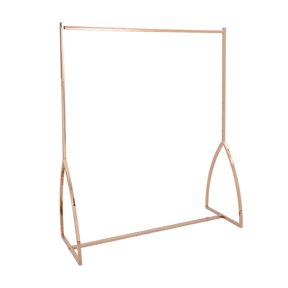 Rose Gold <strong>Retail</strong> Store Clothes Store Garment Rack Display Furniture Clothing Rail