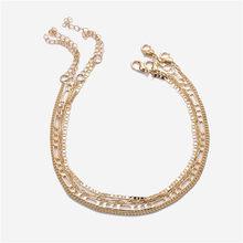 Оригинальный Женский браслет на щиколотке из нержавеющей стали с буквенным принтом, Золотой мужской браслет на щиколотке, A-Z, алфавит, рожде...(Китай)