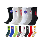 OEM Service Very Cheap Men Socks OEM Custom Logo White Black 100% Cotton Bamboo Design Socks Grey Athletic Crew Sports Socks Men Basketball Socks Elite For Man
