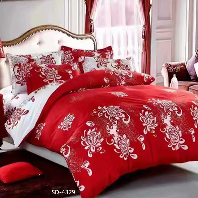 थोक दिलासा 100% पॉलिएस्टर बिस्तर सेट सज्जित चादर