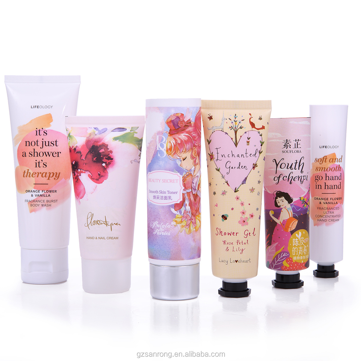 5 layers 100g 100ml aluminum hand cream tubes barrier laminate ABL tubes with octagonal screw lid cap