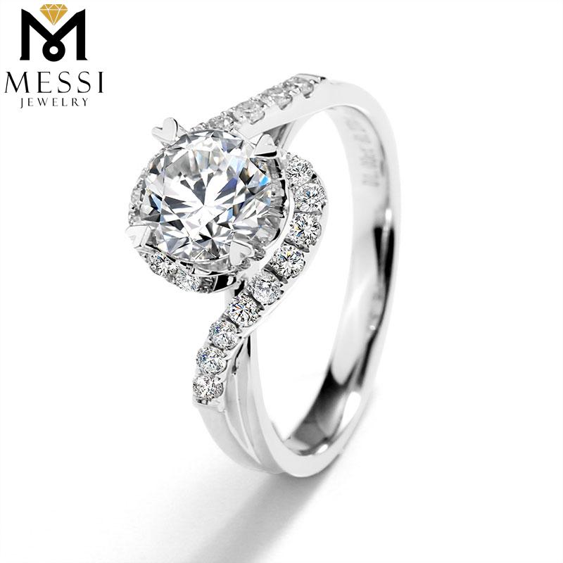 Messi Jewelry 14K Gold Gram price free shipping 1 carat moissanite diamond ring